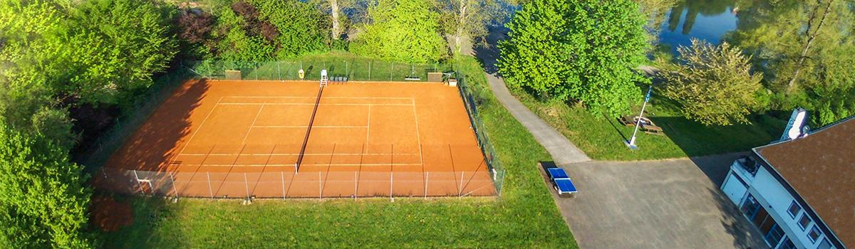 2016, Blick von Oben: der Tennisplatz des Ruderclub Neptun. Bildquelle: Christian Haas